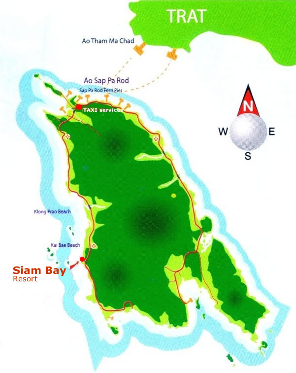 Siam Bay Resort Map